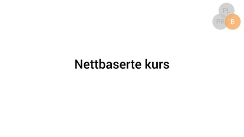 Thumbnail for entry Nettbaserte kurs
