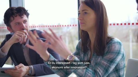 Thumbnail for entry Studer ved Handelshøyskolen ved UiA - promo 20sek