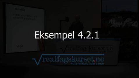 Thumbnail for entry Eksempel 4.2.1
