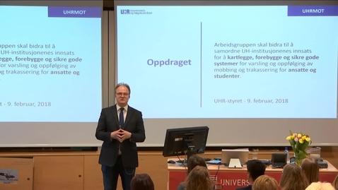 Thumbnail for entry 4. Kartlegging av seksuell trakassering i akademia - Frank Reichert