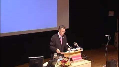 Thumbnail for entry Jens Stoltenberg foreleser 2008