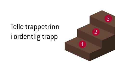 Thumbnail for entry Telle trappetrinn.