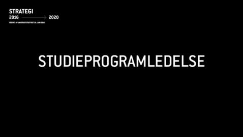 Thumbnail for entry LUF1 - Studieprogramledelse