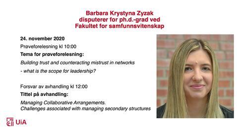 Thumbnail for entry Disputas - Barbara Zyzak 24.11.2020
