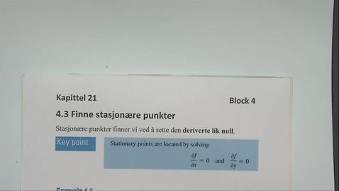 Thumbnail for entry Kapittel 21 4.3 Finne stasjonære punkter