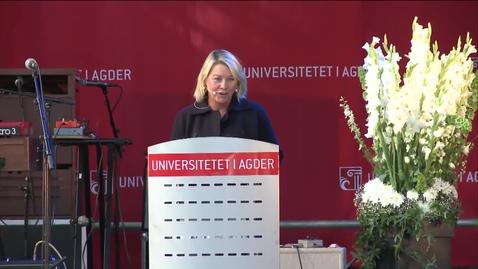 Thumbnail for entry Tale ved studiestart 2016 KRS - næringsminister Monica Mæland