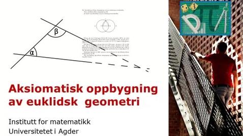 Thumbnail for entry Aksiomatisk geometri