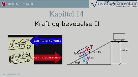 Thumbnail for entry Kapittel 14 Kraft og bevegelse II teori