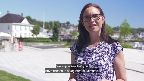 Thumbnail for entry Mayor of Grimstad - Beate Skretting - studiestart 2020
