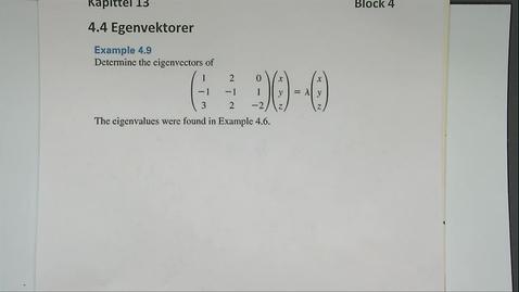 Thumbnail for entry Kapittel 13 4.4-1 Egenvektor - eksempel 2