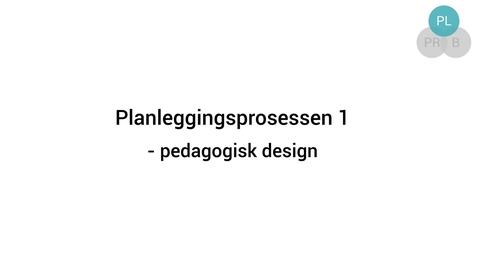 Thumbnail for entry Planleggingsprosessen 1 - Pedagogisk design