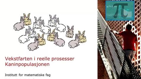 Thumbnail for entry Vekstfarten i reelle prosesser - Kaninpopulasjonen