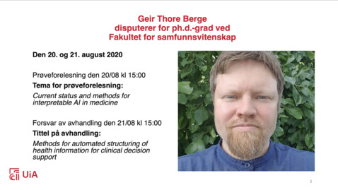 Thumbnail for entry Trial lecture - Geir Thore Berge