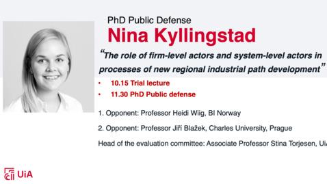 Thumbnail for entry Disputas Nina Kyllingstad Del 1