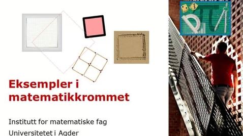 Thumbnail for entry Eksempler i matematikkrommet