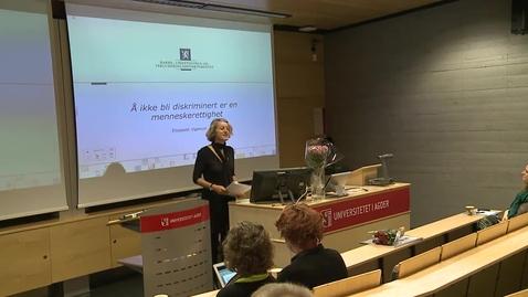 Thumbnail for entry Likestillingskonferansen 2012 - «Å ikke bli diskriminert er en menneskerettighet»