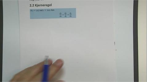 Thumbnail for entry Kapittel 16 2.2 Kjerneregel