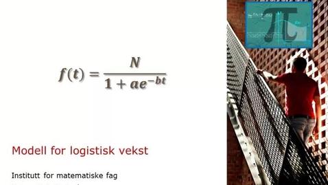 Thumbnail for entry Modell for logistisk vekst