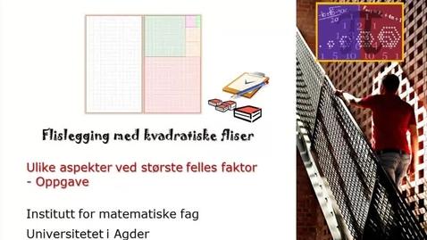 Thumbnail for entry Flislegging med kvadratiske fliser. Ulike aspekter ved SFF - Oppgave