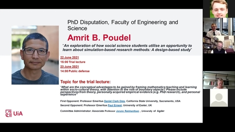 Thumbnail for entry Disputation Amrit B. Poudel 22th and 23th of june 2021
