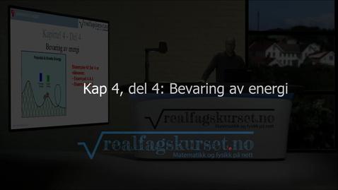 Thumbnail for entry Kapittel 4, del 4 - Bevaring av energi