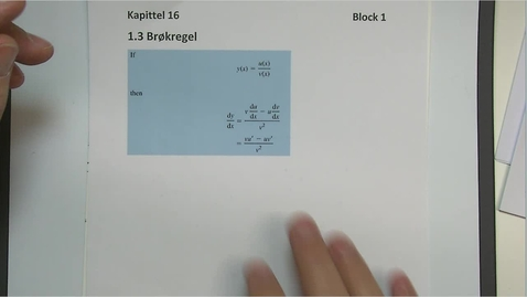 Thumbnail for entry Kapittel 16 1.3 Brøkregel
