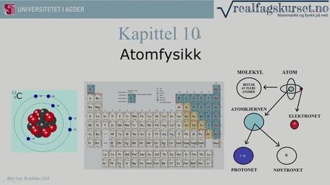 Thumbnail for entry Kapittel 10 Atomfysikk teori