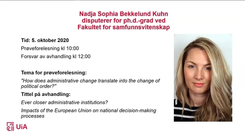 Thumbnail for entry Disputas Nadja Sophia B. Kühn