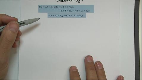 Thumbnail for entry Kapittel 14 2.2.2 Vektorer i et koordinatsystem - regneregler