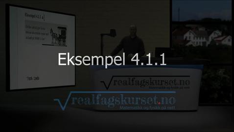 Thumbnail for entry Eksempel 4.1.1