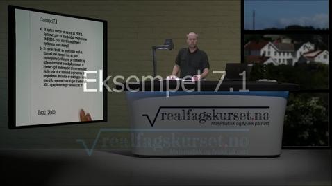 Thumbnail for entry Eksempel 7.1