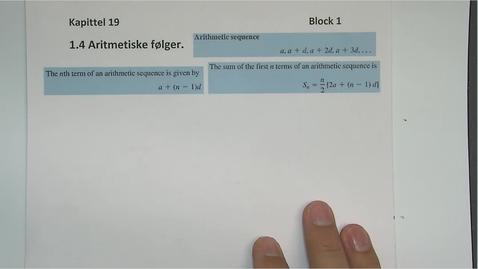 Thumbnail for entry Kapittel 19 1.4 Aritmetiske følger