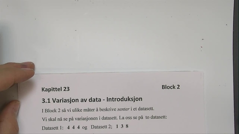 Thumbnail for entry Kapittel 23 3.1 Variasjon av data - Introduksjon