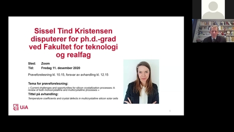 Thumbnail for entry Disputas - Sissel Tind Kristensen
