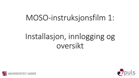 Thumbnail for entry MOSO: 1. Innlogging og oversikt