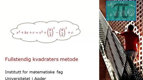 Thumbnail for entry Fullstendige kvadraters metode