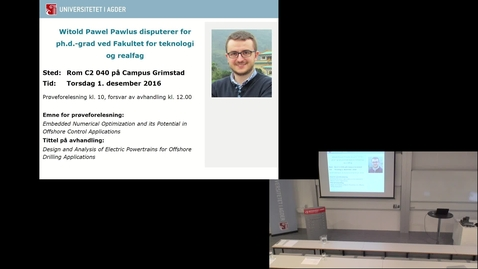 Thumbnail for entry Witold Pawlus - PHD Defense - 12/1/2016