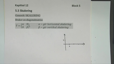 Thumbnail for entry Kapittel 12 5.5 Skalering - matriser