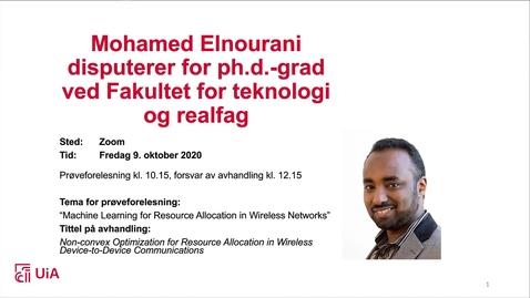 Thumbnail for entry Disputas Mohamed Elnourani