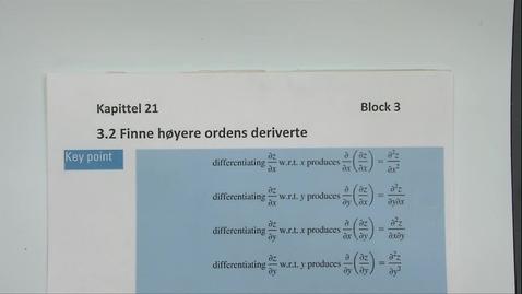 Thumbnail for entry Kapittel 21 3.2 Finn høyere ordens partiell deriverte