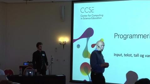 Thumbnail for entry 4 Programmering i Pyton del-1 - med Henrik Løvold