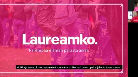 Thumbnail for entry Laureamko-info osa 1, opiskelijakuntasi (kaikille) kevät 2021