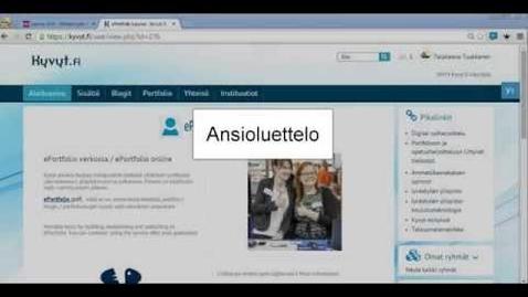 Thumbnail for entry Ansioluettelon luominen Kyvyt.fi