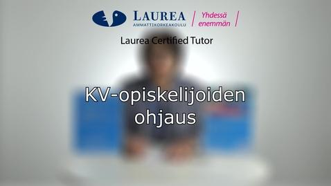Thumbnail for entry Certified Tutor -koulutus tietoiskuvideo: KV-opiskelijoiden ohjaus - Leena Kuosmanen