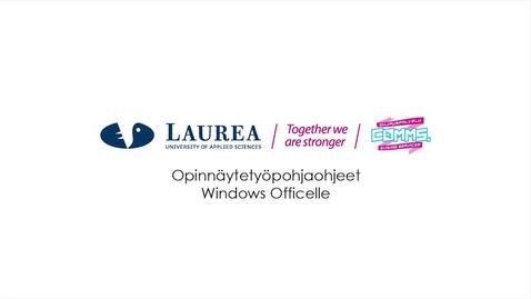 Thumbnail for entry Opinnäytetyöpohjaohjeet Windows Officelle
