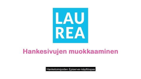 Thumbnail for entry Hankesivujen muokkaaminen