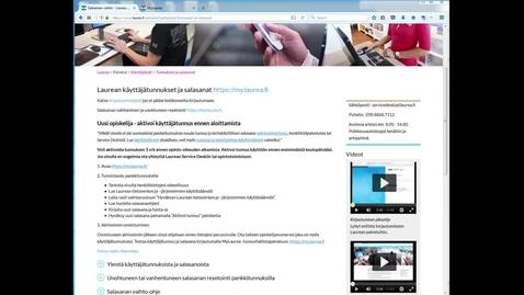 Thumbnail for entry Mitä on käyttäjätunnus?