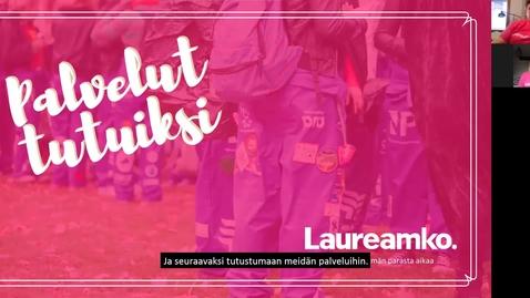 Thumbnail for entry Laureamko-info osa 2, palvelut (päiväopiskelijoille) kevät 2021
