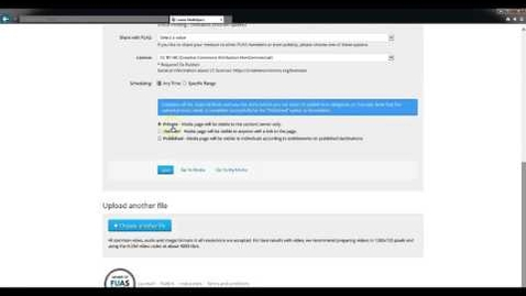 Thumbnail for entry Videon lataaminen ja linkittäminen video.laurea.fi palveluun