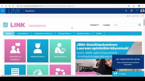 Thumbnail for entry Perehdytys: Mistä löytyy työharjoittelun oppimistehtävä